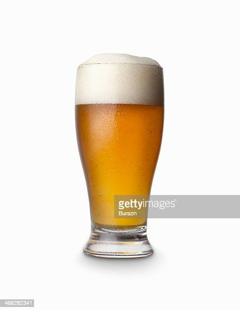 Glass of amber beer