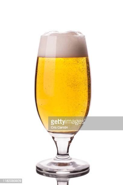 glass of beer - ビアグラス ストックフォトと画像