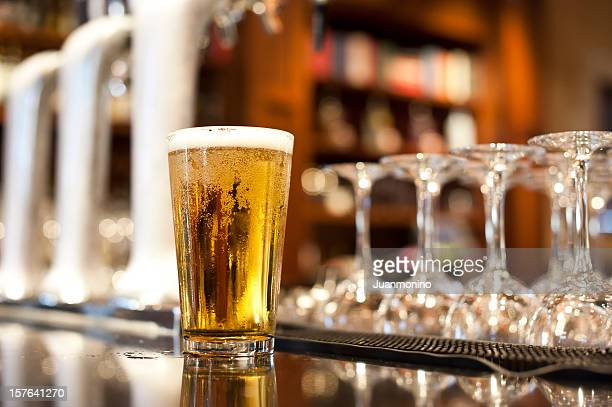 glass of beer - beer glass stock pictures, royalty-free photos & images