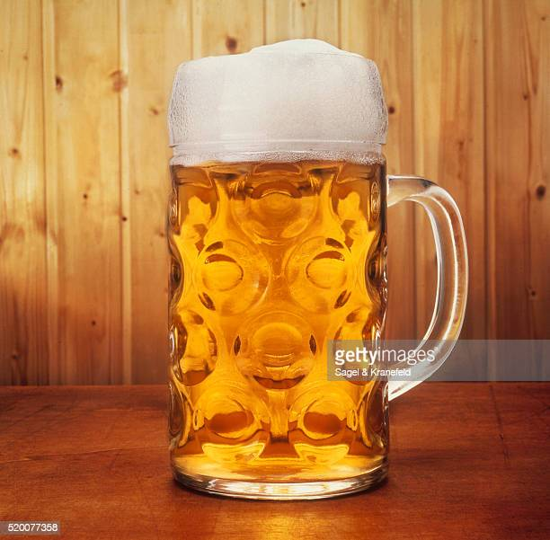 a glass of beer - beer stein stock photos and pictures