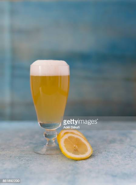 Glass of Beer With Lemons