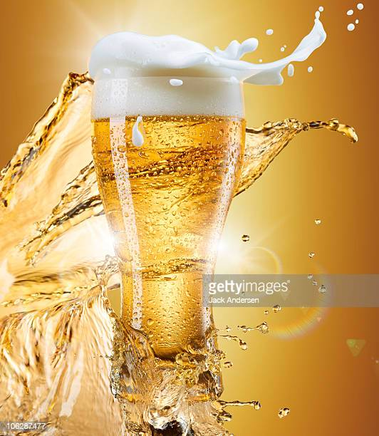 Glass of Beer with Splash