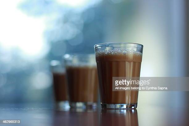 glass of chai - chai stock photos and pictures
