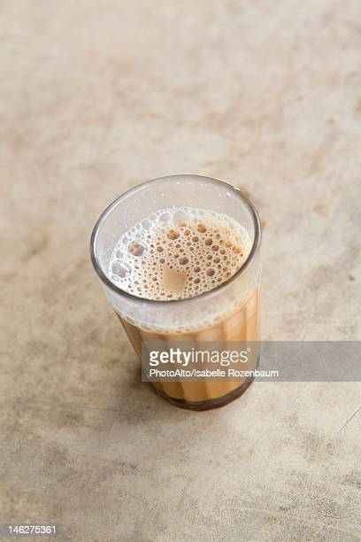 Glass of chai tea