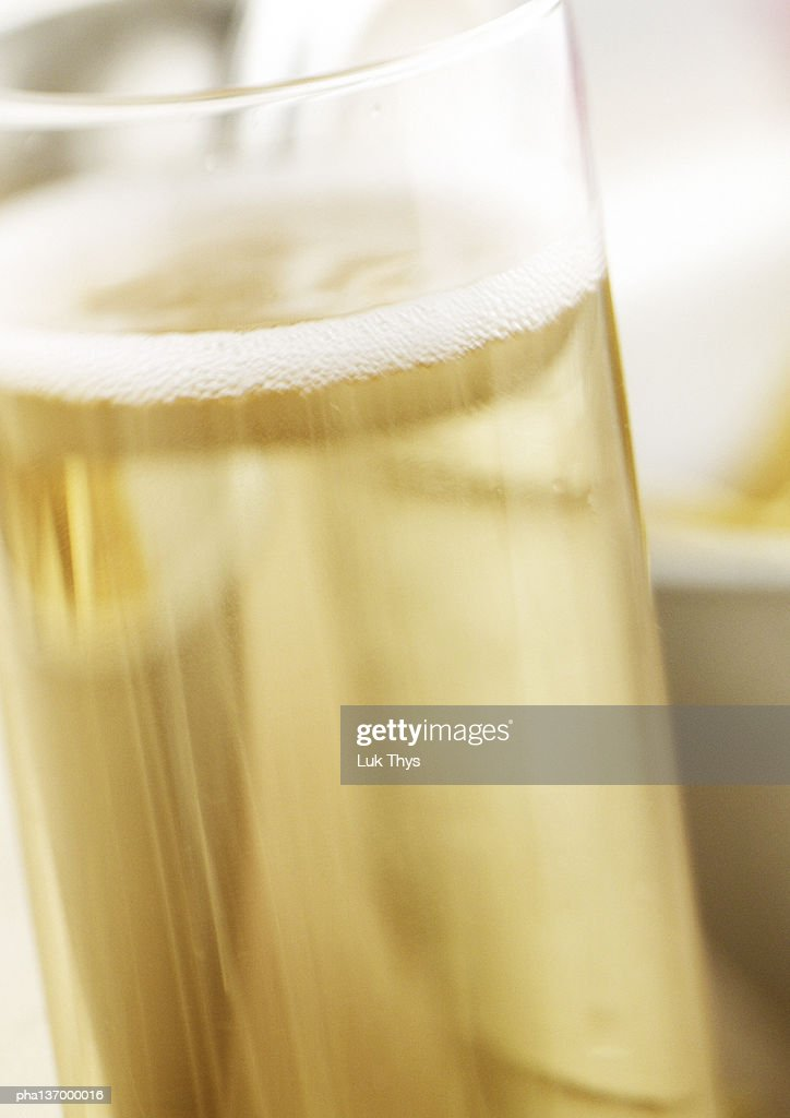 Glass of Champagne, close-up. : Stockfoto