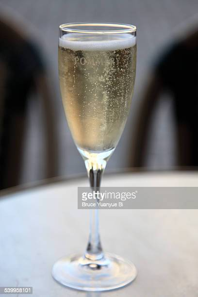 a glass of champagne - campania stock pictures, royalty-free photos & images