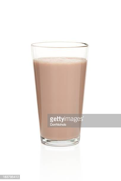 Glass of Chocolate Milk Isolated