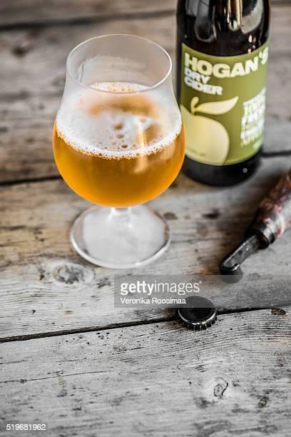 Glass of cold Hogan's Cider