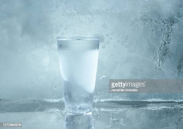 glass of cold vodka - cold drink stock pictures, royalty-free photos & images