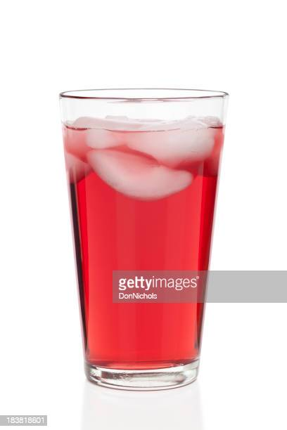 Glas Preiselbeersaft Isoliert