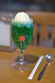 ice cream glass cream soda