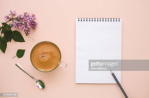 glass of dalgona coffee over pastel background, top view, copy space, new food trend, pink background, natural daylight - dalgona stock pictures, royalty-free photos & images
