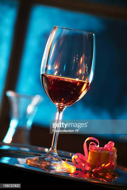 Glass of dessert wine, close-up