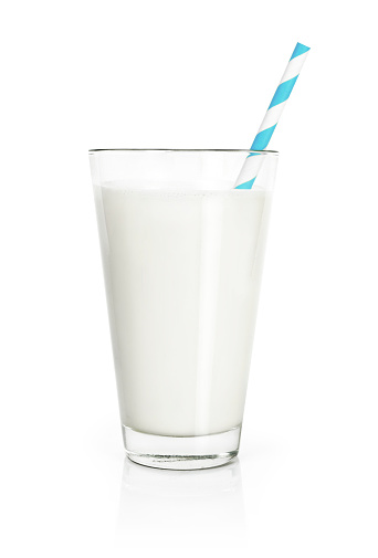 Glass of fresh milk, isolated on white 1128028848