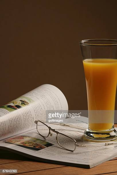 Glass of fresh orange juice.