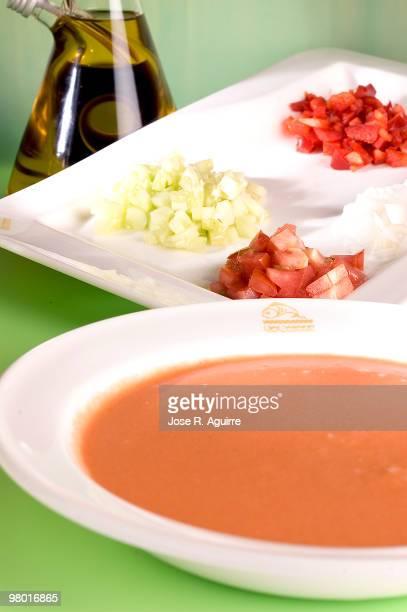 A glass of gazpacho