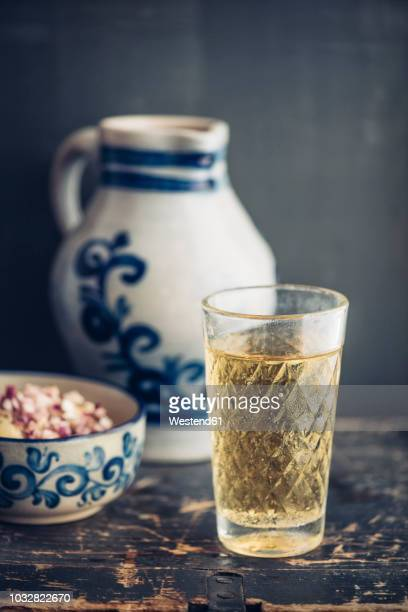 glass of hessian cider - cider stock pictures, royalty-free photos & images