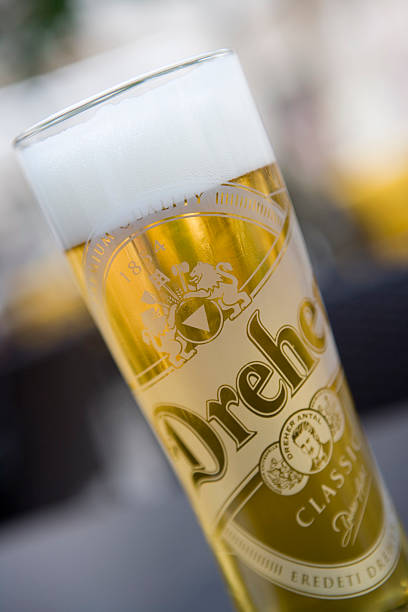 Glass of Hungarian Dreher beer.