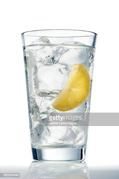 glass of ice water - drinking glass stock pictures, royalty-free photos & images