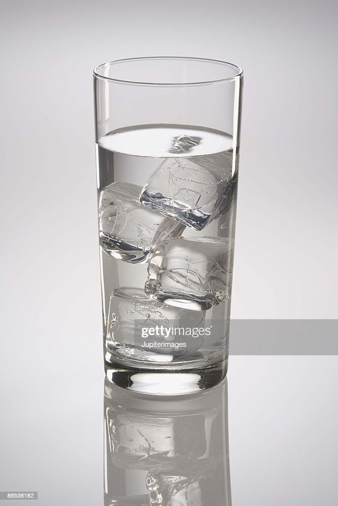 Glass of ice water : Stock Photo