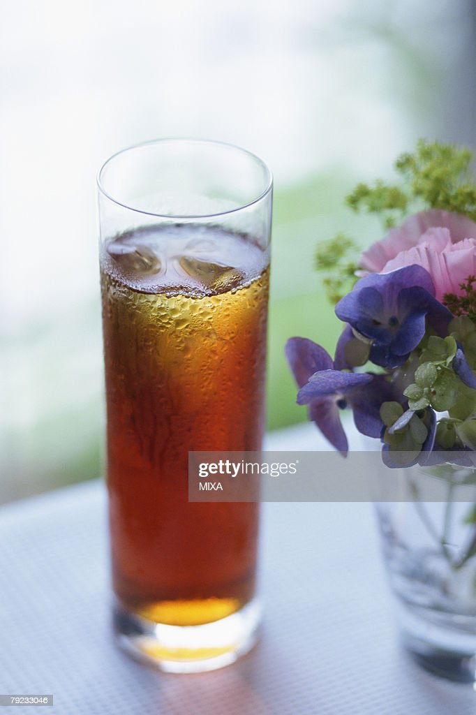 Glass of iced tea : Stock Photo