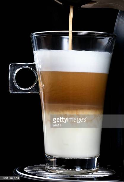 Glass of Latte Cappuccino