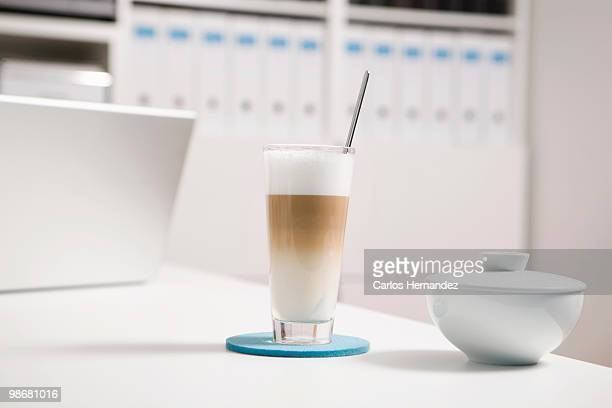 A glass of Latte Macchiato