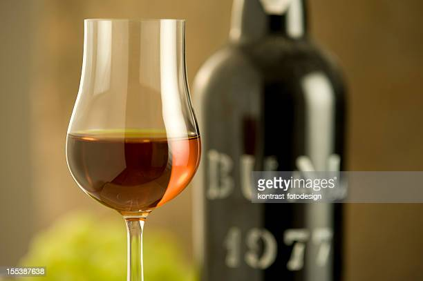 glass of madeira wine from 1977 - lareira stock pictures, royalty-free photos & images