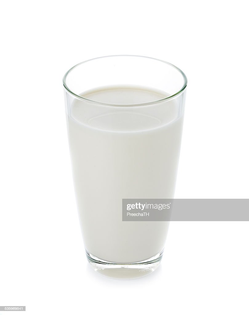 glass of milk isolated on white : Stock Photo
