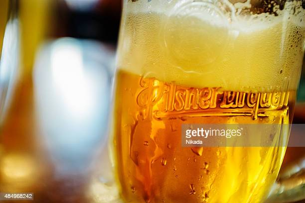 Glass of Pilsner Urquell Beer