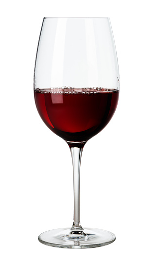 Glass of Red Wine on White 515707206
