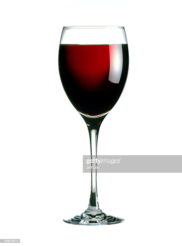 Glass of red wine : Stock Photo
