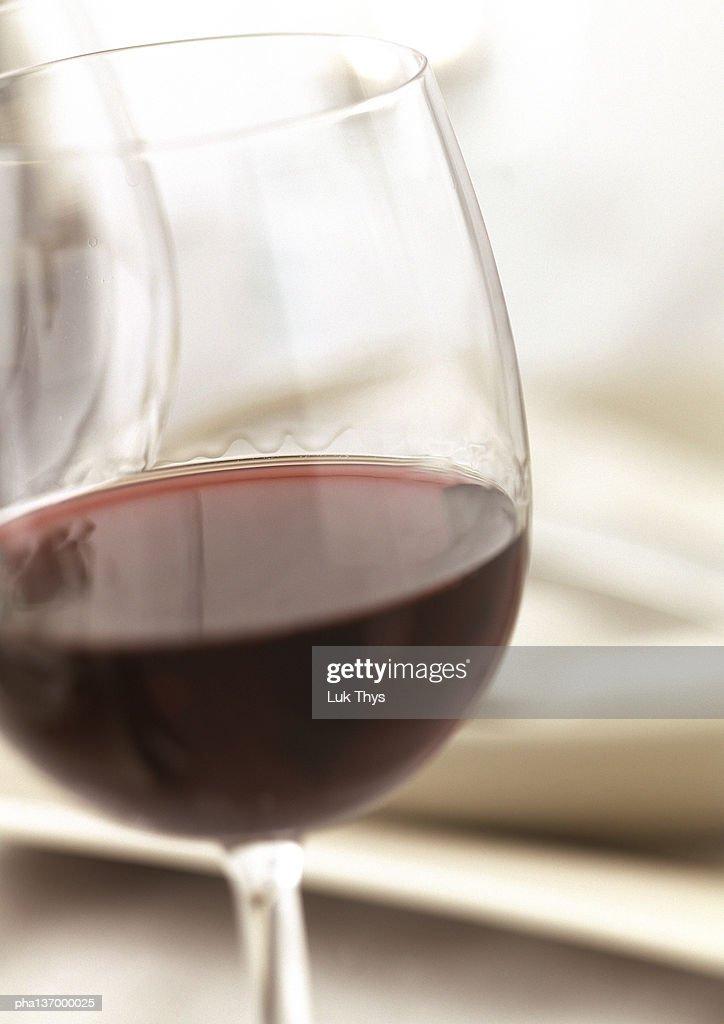 Glass of red wine. : Stockfoto
