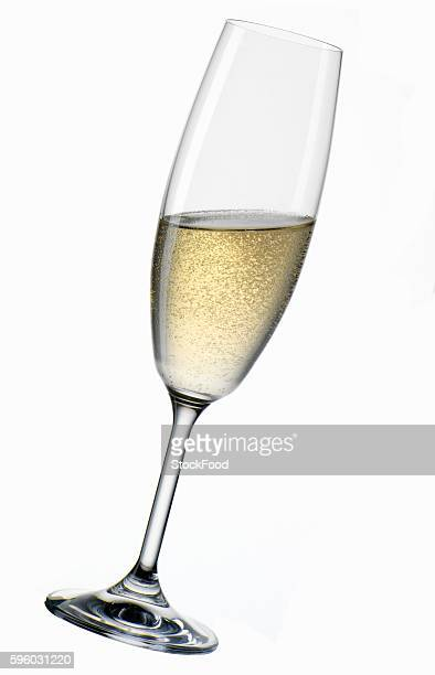 A glass of Sekt, at an angle