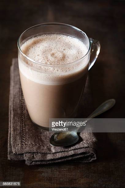 Glass of vegan hot chocolate