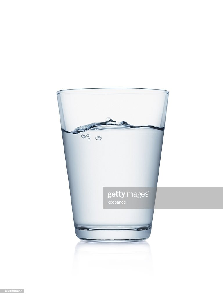 Glass of water isolated on white : Stock Photo