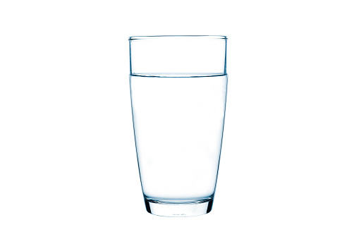 Glass of water on isolate background 1133156053