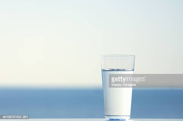 Glass of water, outdoors