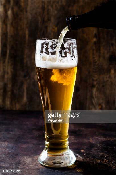 Glass of wheat beer
