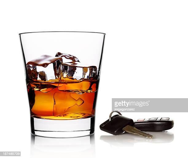 Verre de whisky avec Clé de voiture