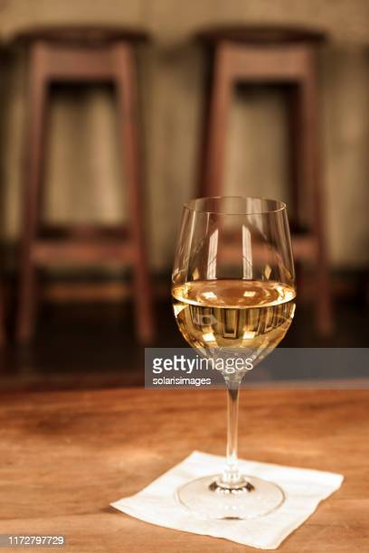 glass white wine chardonnay table upscale