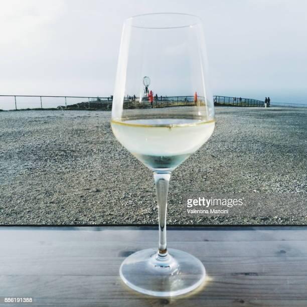 A glass of wine in Nordkapp