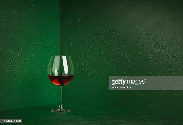 glass of wine in studio. 3d generated - uvas cabernet sauvignon - fotografias e filmes do acervo