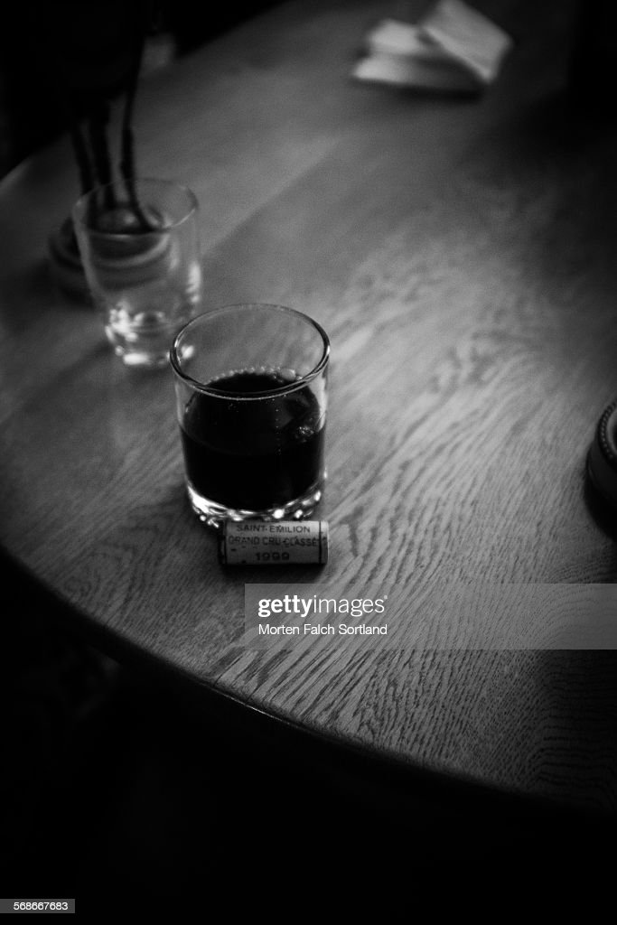 A glass of wine : Stock Photo