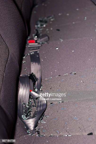 Glass on backseat of car