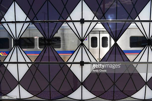 Glass panel windscreen artwork by Sandra Fettingis entitled Tumble Weeds Really Do Exist graces five RTD University of Colorado A Line stations as...
