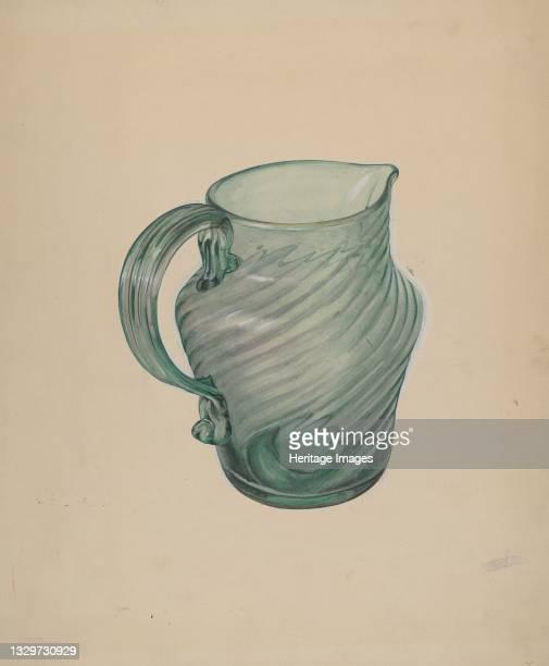 Glass Pitcher, circa 1937. Artist Beverly Chichester.