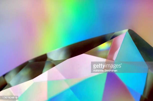 glass prism and light effects - precious gemstone stock pictures, royalty-free photos & images
