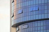 glass reflection modern architecture for futuristic