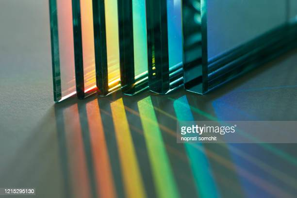 glass, reflection or refraction of light, abstract background - stone object stock pictures, royalty-free photos & images